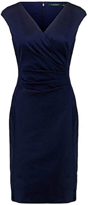 Ralph Lauren Women's Satin Surplice Dress