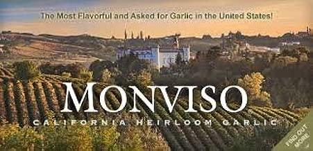 Fresh Garlic USA California Heirloom Monviso Gilroy Finest - 2 x 4 oz - 10 BULBS