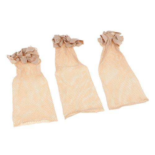 Homyl 3 Pcs Perruque Caps Élastique Maille End End Perruque Net Hairnet Snood Cheveux Perruque Tissage Cap Netural Nude Beige