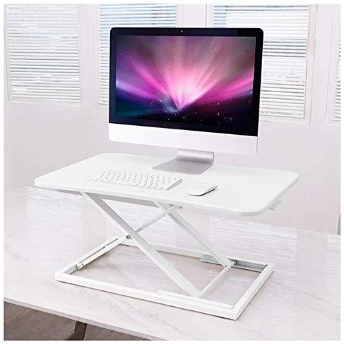 JIADUOBAO Escritorio de ordenador ajustable – Escritorio de pie para el hogar – Elevador ergonómico de mesa de trabajo de 29 pulgadas (color: blanco)
