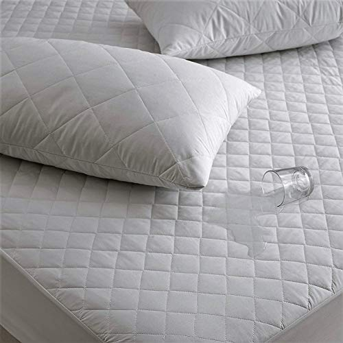 The Bettersleep Company Brand Waterproof Quilted Microfibre Mattress Protector - Hotel Quality Anti Dustmite, Waterproof, Absorbent, Breathable & Fully Fitted - Double