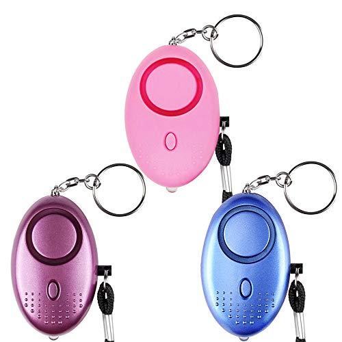 IWILCS Personal Alarm Schlüsselanhänger, Selbstverteidigung Sirene, Panikalarm Selbstverteidigung, Persönlicher Alarm für Frauen, Kinder, ältere Menschen
