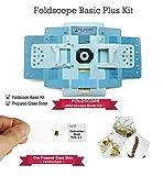 Foldscope Basic Plus Kit - Foldable DIY Paper Microscope + One Prepared Glass Slide by Simple Days