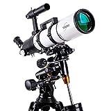 Miroir de recherche 6X30, télescope, lunette de voyage, télescope réfracteur astronomique avec trépied et lunette de visée, télescope portable, distance focale 600 mm avec monture équatoriale,electric
