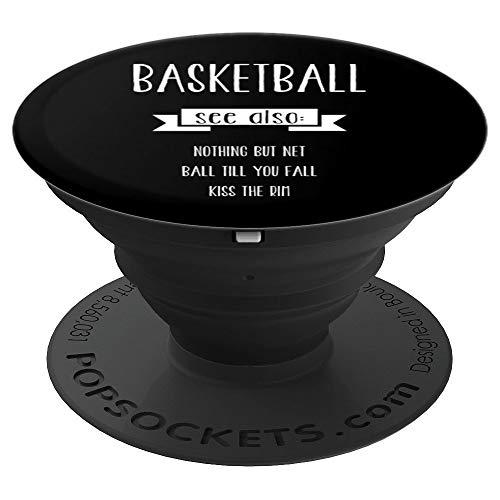 Basketball Sayings Dictionary Define Funny Christmas Gift - PopSockets Ausziehbarer Sockel und Griff für Smartphones und Tablets
