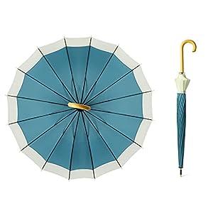 長傘 ジャンプ傘 16本骨 大型 台風対応 梅雨対策 超撥水 メンズ レディース