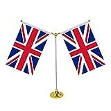 LUOEM Bandiere da Tavolo da scrivania UK Bandiere da Tavolo da Tavolo con Bandiera Regno U...
