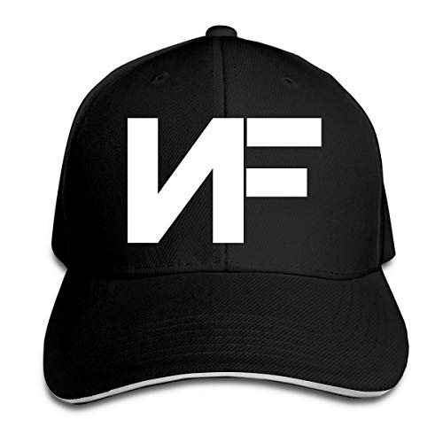 ATRXZ Verstellbar Damen Herren Nf Rapper Logo Graphic Baseball Cap Mütze Baseballcap Hat Snapback Kappe Black