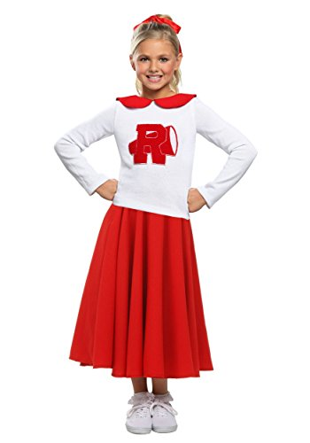 Child Grease Rydell High Cheerleader Costume Cheer Outfits for Girls Large