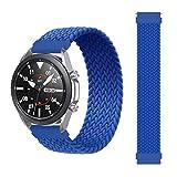 Correa Pulsera reemplazo de 22mm trenzado Solo lazo correa para Samsung Galaxy 46mm/Gear pulsera reloj Huawei GT/2/2e/Pro Huami amazfit pace/stratos2/2s banda elástica (Azul)