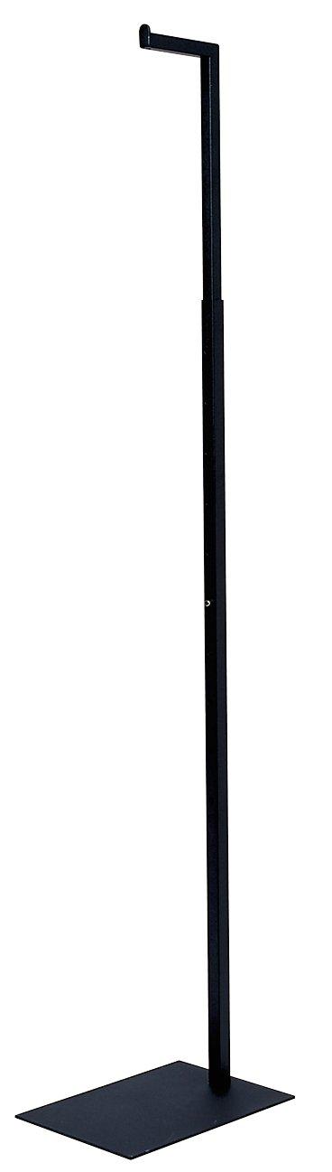 Econoco Adjustable Notched Costumer Max 75% OFF Matte Pack Elegant 2 Black of