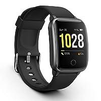 Monitoraggio del sonno e monitoraggio della frequenza cardiaca: questo smartwatch monitora automaticamente e continuamente la frequenza cardiaca in tempo reale giornaliera e monitora il sonno, registrando il tempo di sonno notturno, la qualità del so...