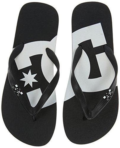 DC Shoes Herren Spray Graffik Zehentrenner, Schwarz (Black/White), 45.5 EU