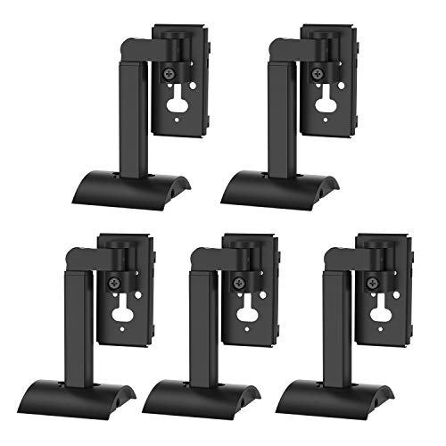 5-Pack Wall/Ceiling Mount Bracket Stand kit for Bose UB-20 Series II,Compatible with Bose 5.1speaker Home Entertainment Systems(Not fit for Lifestyle 650),Black