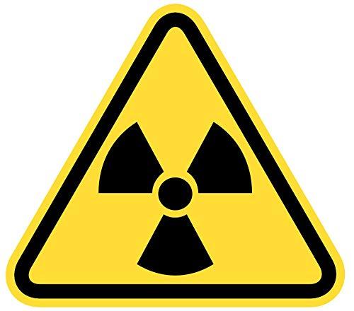 Samunshi® Warndreieck Radioaktiv Aufkleber Radioaktivaufkleber in 10 Größen (8x7cm Mehrfarbig)