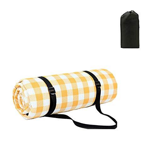 ANTOPY Picknickdecke Extra große Strandcampingdecke Tragbar Leicht Wasserdicht 200 x 200 cm / 79