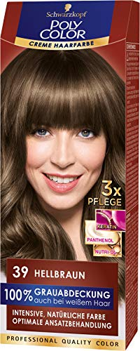SCHWARZKOPF POLY COLOR Creme Haarfarbe Coloration 39 Hellbraun, 1er Pack (1 x 115 ml)