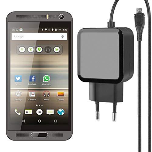 Fontastic Essential Ladegerät Micro-USB für Vkworld VK800X - Schwarz - 1,2m - 2,4A