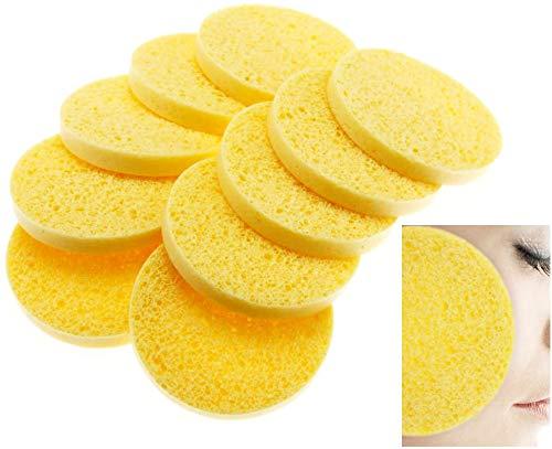 10 x Cellulose Facial Sponges Natural Facial Cleansing Sponge