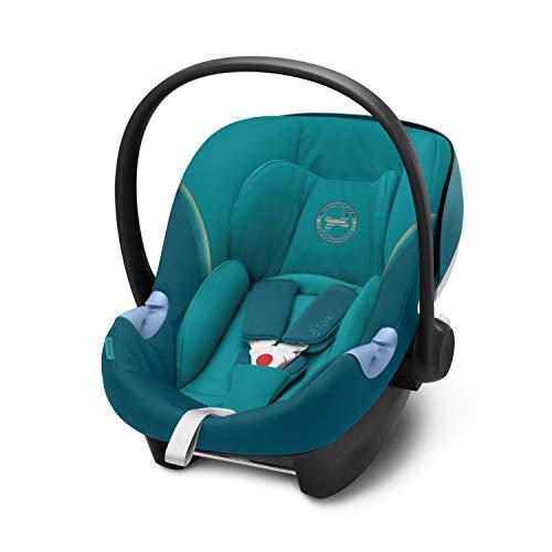 CYBEX Gold Seggiolino Aton M i-Size, Incl. riduttore per neonato, Per bambini da 45 cm a 87 cm, Max. 13 kg, Blu (River Blue)