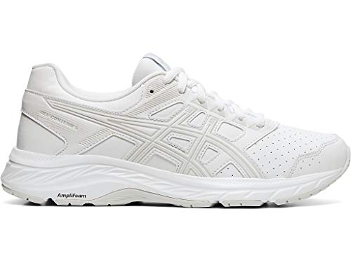 ASICS Women's Gel-Contend 5 Walker Walking Shoes, 11M, White/Glacier Grey