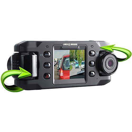 Nextbase Front and Back Dual Lens In-Car DVR Dash Camera with Digital Driving Video Recorder DUO (Old Model)