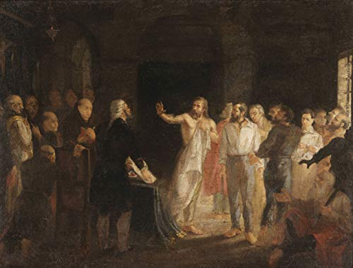 """Resposta de Tiradentes à comutação da pena Pintura de Leopoldino de Fariac 1890 em Tela""""Canvas"""" Repro (Tela""""Canvas"""", 74cm X 55cm Tamanho de Imagem)"""