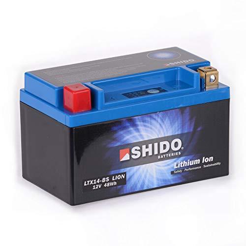 Batterie lithium-ion 12 V 2,4 Ah YTZ7S Shido DT 125 R DE061 04-06 6 Ah