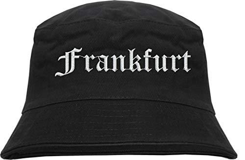 HB_Druck Frankfurt Fischerhut - Bucket Hat - Bestickt - Schwarz L/XL