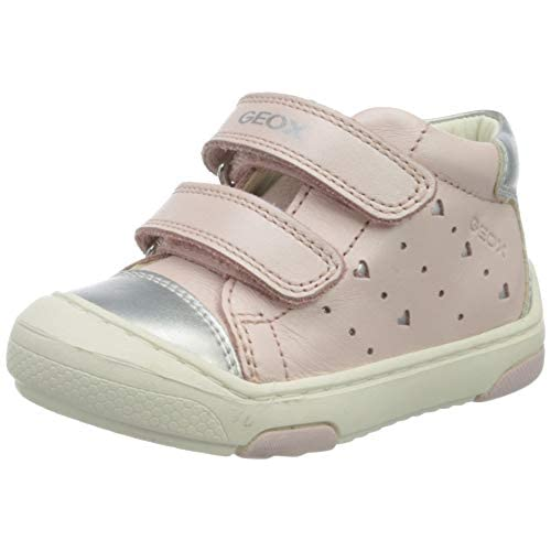 Geox B JAYJ GIRL D, Sneaker Bambina Bimba 0-24, Rosa (Lt Rose/Silver C8237), 18 EU