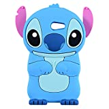 EMF Blue Alien Dog Case for Galaxy J3 Emerge/J3 Prime,Express Prime 2,J3 Mission/J3 Eclipse,3D Cartoon Animal Cute Soft Silicone Rubber Cover,Kawaii Character Cool Cases for Kids Teens Girls(J3 2017)