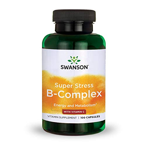 Swanson B Vitamin Stress Complex with Vitamin C Stress Relief Energy Immune Health 500 mg 100 Capsules