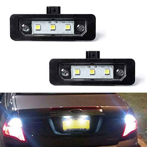 License Plate Light, Gempro 2Pcs LED License Plate Tag Lamp Assembly For Ford Mustang Focus Fusion Flex Taurus Lincoln Mercury Lincoln