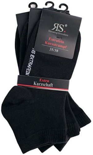 socksPur 3 PAAR LADY HARMONY KURZSCHAFT STRUMPF SCHWARZ (39-42, schwarz)