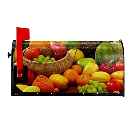 Odeletqweenry Verse Groenten Fruit Print Postbus Cover Magnetische Postbus Wraps Brievenbus Doos Cover Standaard Grootte 21 x 18 Inch Waterdichte Canvas Postbus Cover