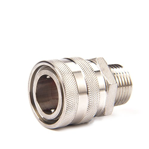 304 Stainless Steel Quick Disconnect MPT with Barb Hose Set. 1/2NPT
