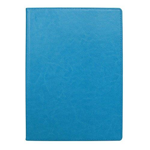 手帳カバー A5 ブルー ノートカバー ブックカバー 無地 横開き 合皮 手帳式 PUレザー