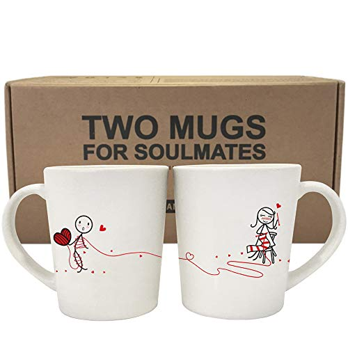 Pair of Romantic Knitting Mugs