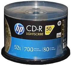 HP LightScribe CD-R 52X Blank Disc Storage Printable Media 700MB 80min-50pk