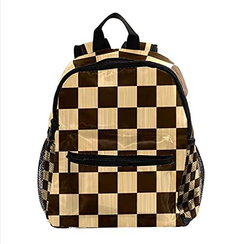 ColorMu Mini mochila para computadora portátil, bolsa para computadora portátil para mujeres Tablero de ajedrez para el trabajo, escuela, al aire libre