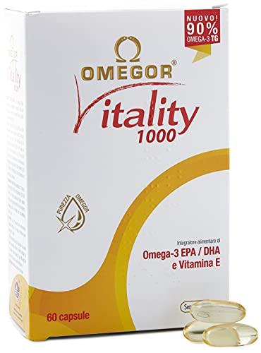 OMEGOR® Vitality 1000: ¡NUEVO con un 90% de Omega-3 TG! 5 * IFOS certificado desde 2006. EPA 535 mg y DHA 268 mg por perla. Min. Estructura 90% de triglicéridos y destilación molecular, 60 cps.