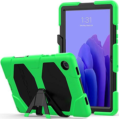 TECHGEAR Custodia Robusta Compatibile con Nuovo Samsung Galaxy Tab A7 10.4  2020 (SM-T500 SM-T505) Resistente agli Urti e all impatto - Cover con Supporto per i Bambini, Lavoro e Scuola [Verde]