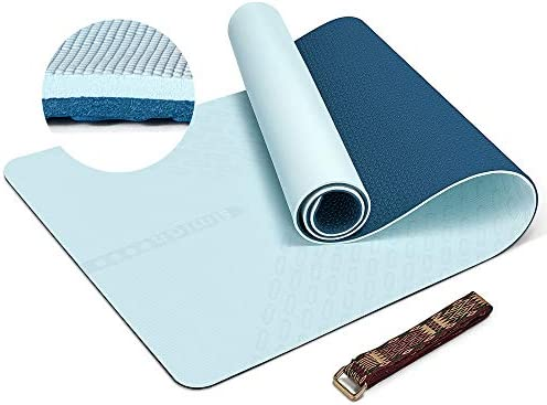 SIMIAN Yoga Mat 10mm Thick TPE Non Slip Exercise Mat Extra Thick Fitness Mat Workout Mat with product image