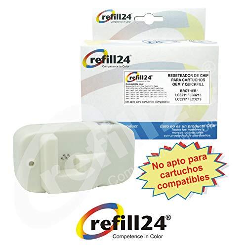refill24 Reseteador de Chip con conexión USB para Cartuchos Brother LC-3211, LC-3213, LC-3217, LC-3219 para 120 usos.