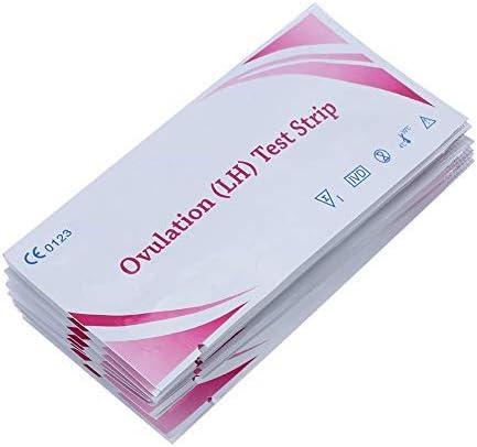 Tira de prueba de ovulación LH, pruebas de tira de fertilidad altamente sensibles, palos de detección de orina en el hogar durante el embarazo para mujeres, 10 piezas
