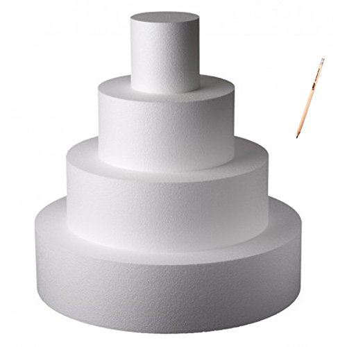 Poliart Cake Mania Base per Torta Circolare in POLISTIROLO H 5 CM Diametro Varie Misure (Diametro 20 cm)