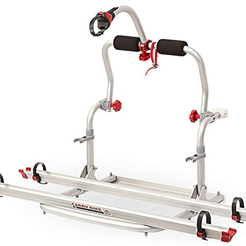 FeliciaJuan Bike Hitch Mounted Rack Bike Carriers Cycle Carrier Aluminum Alloy Materials Need to Be Punched for Accessories for RVs (Color : White, Size : On Size)