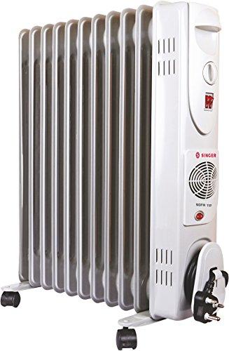 Singer OFR 11 FINS 2900 Watts Oil Filled Radiator Room Heater, White