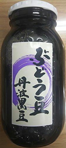 丹波黒豆 ( ぶどう豆 ) 甘露煮 1000g ( 固形650g )×12本 業務用 開封後そのままお召し上がり頂けます。