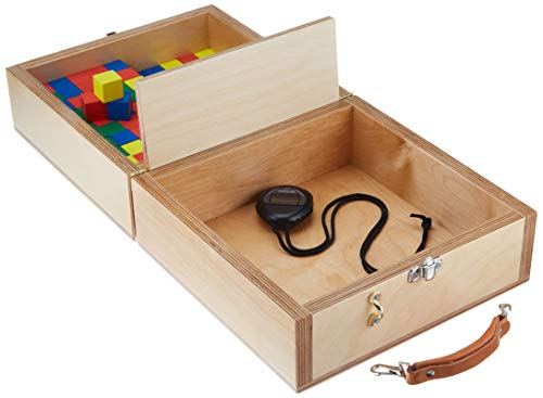 Sammons Preston Box & Block Test, Portable Hand Dexterity Test, Gross Motor Skill Games to Improve Motor Coordination & Dexterity, Game for Rehabilitation, Occupational Therapy, and Physical Therapy